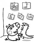disegno da colorare peppa pig che gioca