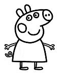 disegno da colorare porcellino di peppa pig
