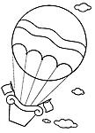 Disegni da colorare categoria mongolfiere magiedifilo for Mongolfiera da colorare