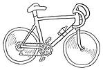Раскраска велосипед скачать онлайн бесплатно, распечатать.  - Велосипеды - Техника - Каталог изображений...
