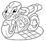 Disegni da colorare categoria moto for Disegni delle macchine