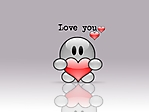 Omino I love you sfondo wallpaper 1024x768