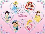 Principesse Disney con fiori sfondo wallpaper 1024x768