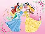 Principesse Disney rose e petali sfondo wallpaper 1024x768