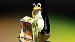 il pinguino di Linux wallpaper full HD
