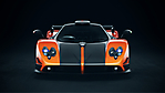 pagani zonda nero e arancio full hd wallpaper