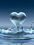 Acqua a forma di cuore sfondo wallpaper 240x320
