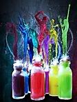 Bottigliette colorate sfondo wallpaper 240x320