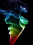 Fumo color arcobaleno sfondo wallpaper 240x320