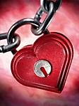 Lucchetto con cuore sfondo wallpaper 240x320