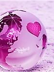 Mondo rosa con cuore sfondo wallpaper 240x320