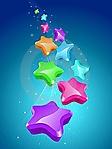 Scia di stelle sfondo wallpaper 240x320