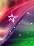 Sfondo colorato con stelle wallpaper 240x320