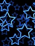 Stelle neon blu sfondo wallpaper 240x320