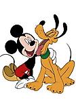 Mickey e Pluto sfondo wallpaper 240x320
