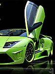 Lamborghini verde sfondo wallpaper 240x320
