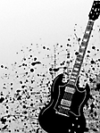Chitarra nera 240x320 sfondo wallpaper
