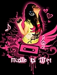 Music is life 240x320 sfondo wallpaper