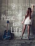 Music is life 2 240x320 sfondo wallpaper