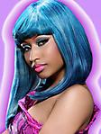 Nicki Minaj blu 240x320 sfondo wallpaper