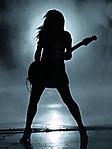 Ragazza nera con chitarra 240x320 sfondo wallpaper