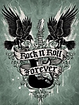 rock n' roll forever 240x320 sfondo wallpaper