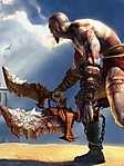 Kratos God of War 240x320 Wallpaper sfondo