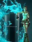 Lara croft con ps3 sfondo wallpaper 240x320