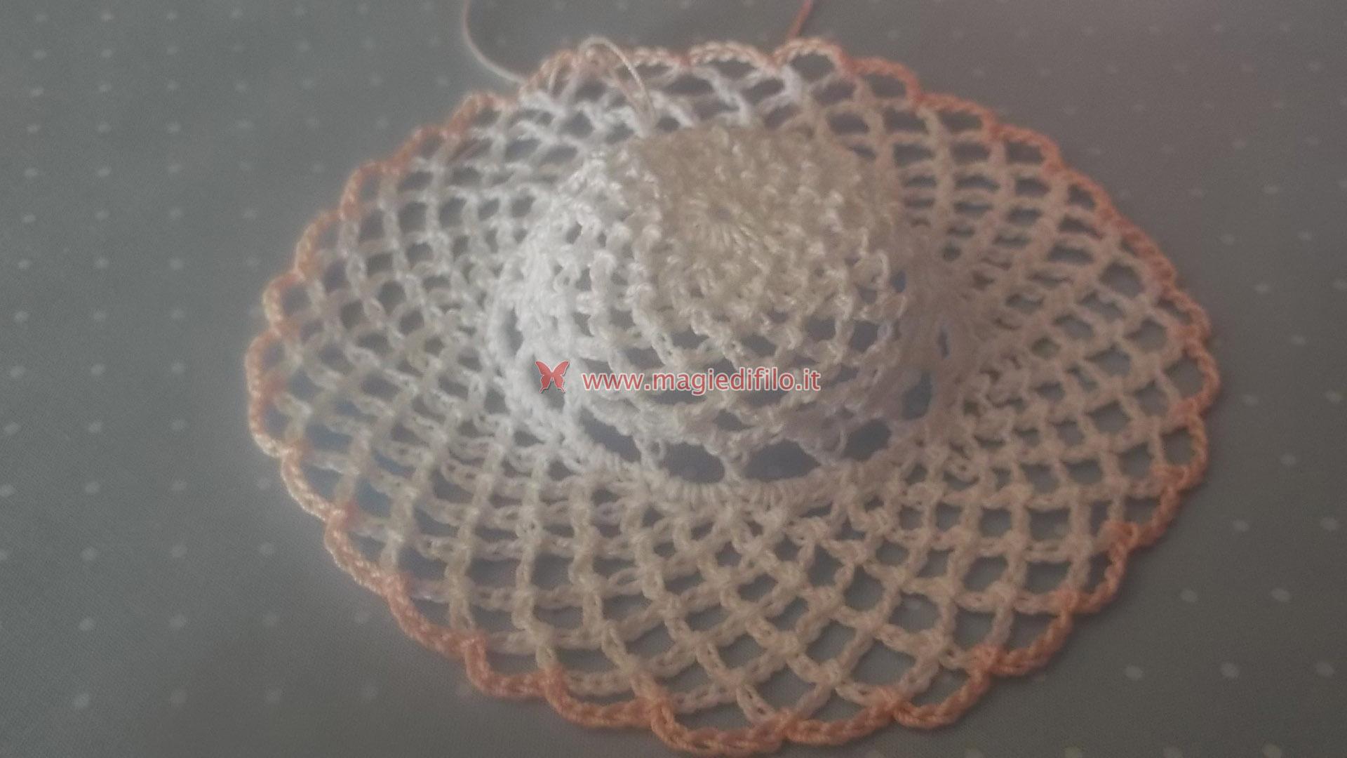 Molto Tutorial per realizzare cappellino inamidato bomboniera  MN46