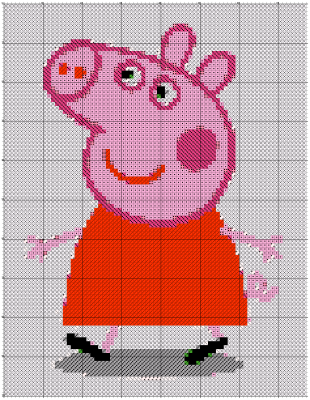peppa pig schema con crosti simile pcstitch 2