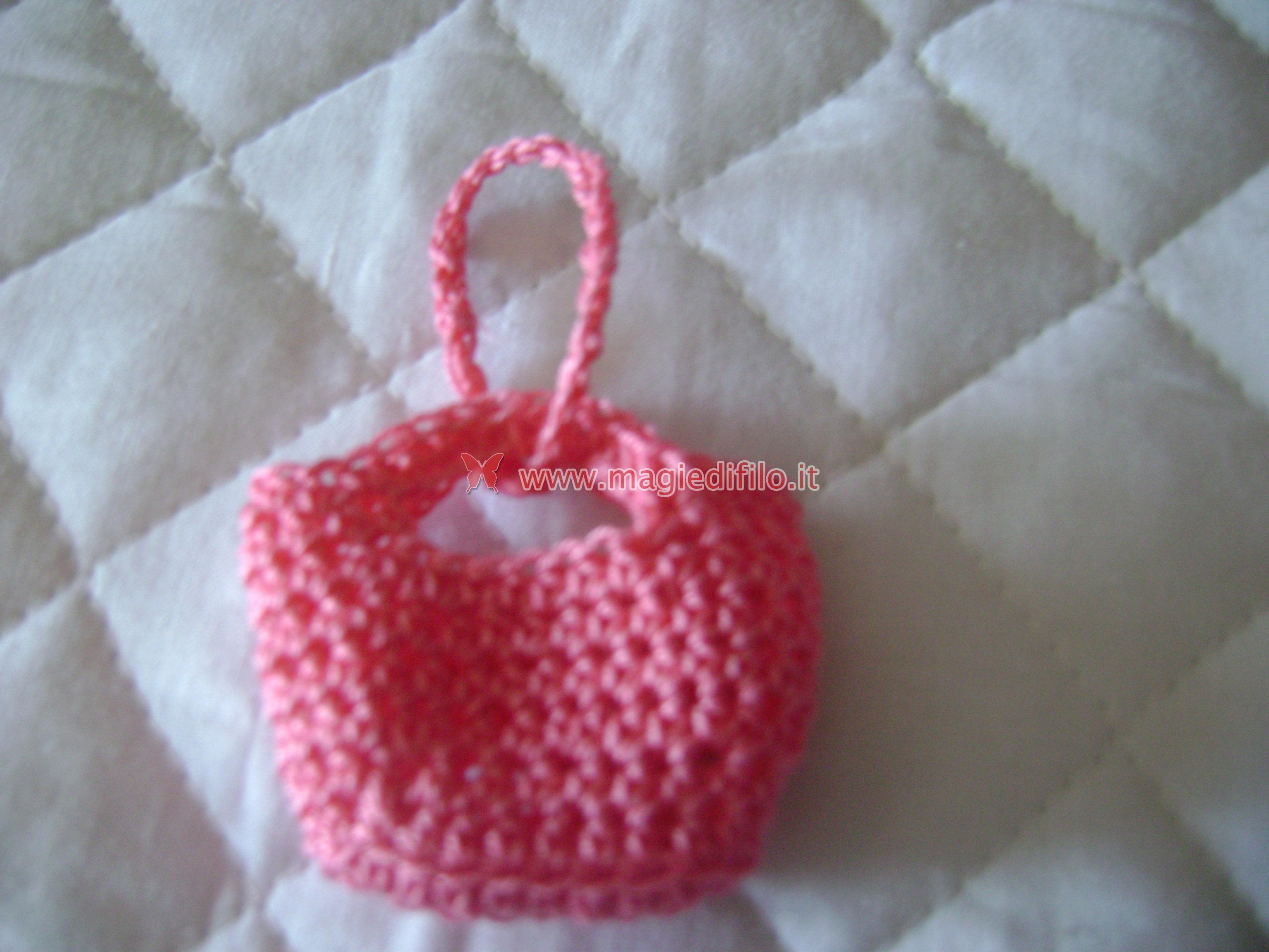 Amigurumi Borsette Uncinetto : creare portachiavi borsetta a uncinetto - guide uncinetto ...