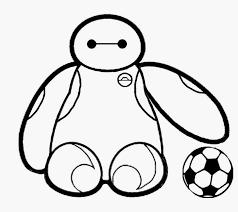 Baby Baymax Con Pallone Da Calcio Disegni Da Colorare Gif Animate