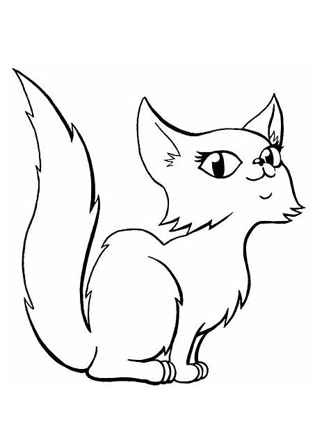 Dolce Micia Con Occhioni Dolci Da Colorare Gif Animate Categoria