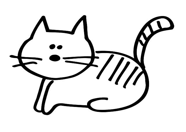 Simpatico Gatto Stilizzato Da Colorare Gif Animate Categoria