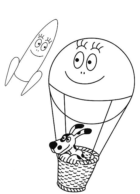 Barbapapa mongolfiera disegno da colorare gif animate for Mongolfiera da colorare