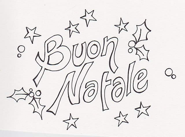 Scritta buon natale disegno di natale da colorare gif - Belle pagine da colorare di natale da colorare ...