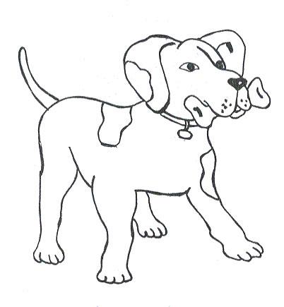 Cane Con Osso Disegno Da Stampare E Da Colorare Gif Animate