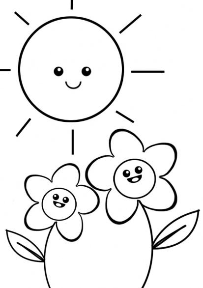 Fiori con sole disegni da colorare gif animate categoria for Sole disegno da colorare