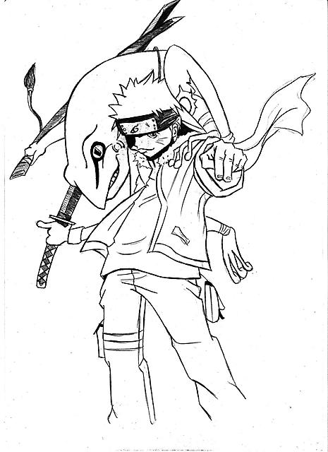 Naruto Con Rana Disegni Da Colorare Gif Animate Categoria Naruto
