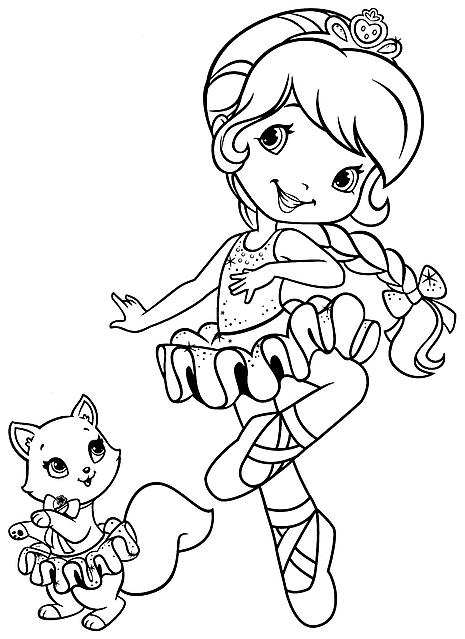Disegni da colorare gratis fragolina dolcecuore ballerina