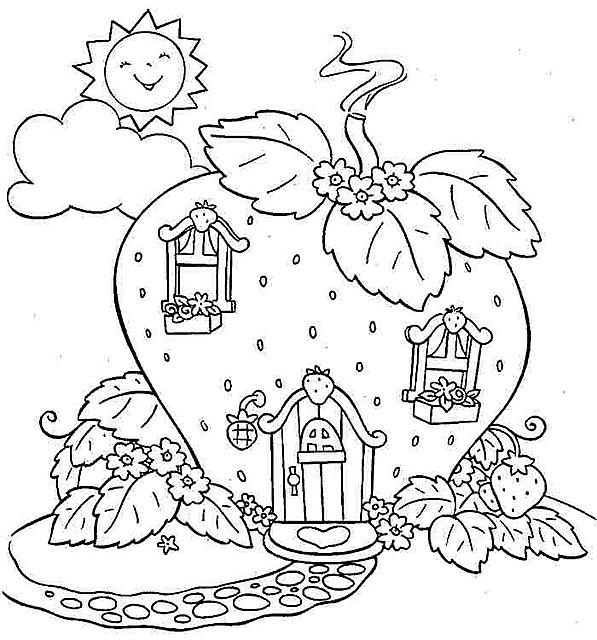 Disegni da colorare gratis la casa di fragolian dolcecuore - Colorare la casa ...