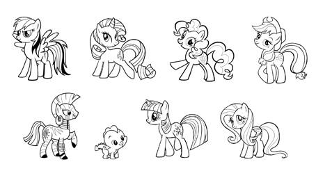 Disegno da colorare my little pony risorse categoria my - Pony da colorare in immagini ...