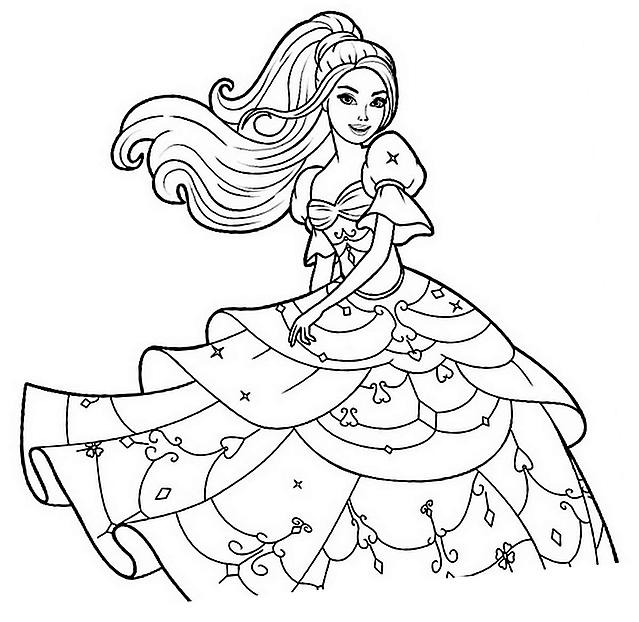 Disegni Da Colorare Barbie Con Vestito Bellissimo Risorse