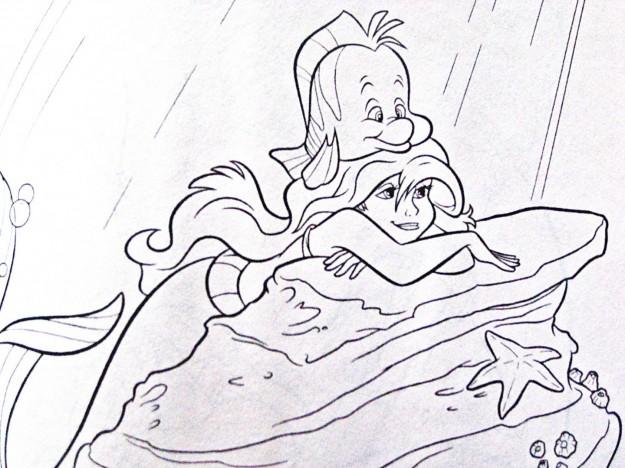 Disegni Da Colorare Ariel Principessa Disney Su Scoglio Risorse