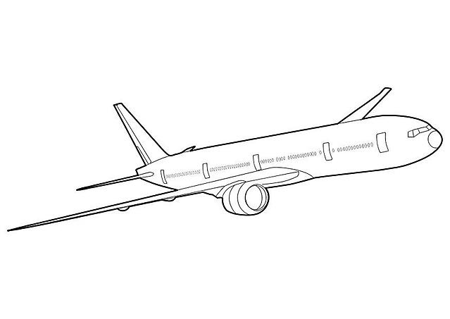 un Boeing 777 disegno da colorare aerei risorse