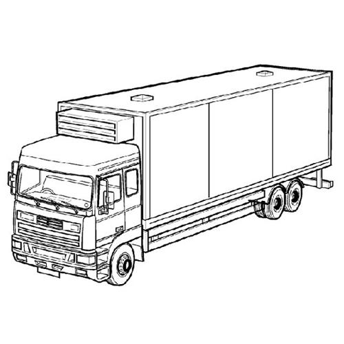 Disegni Da Colorare Per Bambini Grande Camion Risorse Categoria