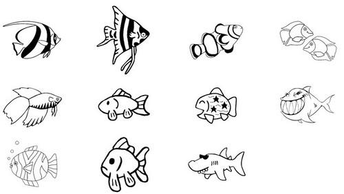 Pesciolini da colorare risorse enigmistiche categoria for Immagini pesciolini