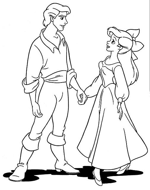 disegni da colorare principessa disney ariel e il suo