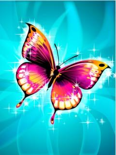 Farfalla colorata sfondo wallpaper 240x320 wallpapers for Sfondi farfalle gratis