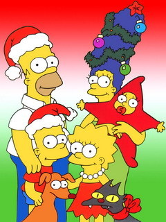 The simpson natale sfondo wallpaper 240x320